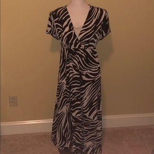 Chico's full-length leopard maxi dress.